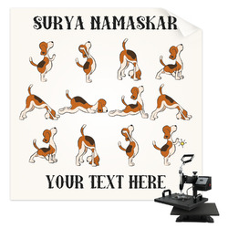 Yoga Dogs Sun Salutations Sublimation Transfer (Personalized)