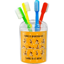 Yoga Dogs Sun Salutations Toothbrush Holder (Personalized)