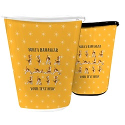 Yoga Dogs Sun Salutations Waste Basket (Personalized)