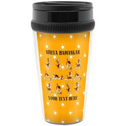 Yoga Dogs Sun Salutations Travel Mug (Personalized)