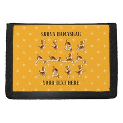 Yoga Dogs Sun Salutations Trifold Wallet (Personalized)
