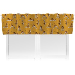 Yoga Dogs Sun Salutations Valance (Personalized)