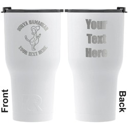 Yoga Dogs Sun Salutations RTIC Tumbler - White - Engraved Front & Back (Personalized)