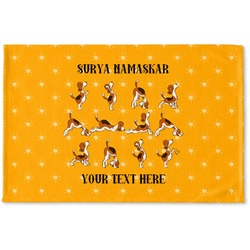 Yoga Dogs Sun Salutations Woven Mat (Personalized)