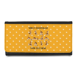 Yoga Dogs Sun Salutations Leatherette Ladies Wallet (Personalized)