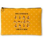 Yoga Dogs Sun Salutations Zipper Pouch (Personalized)