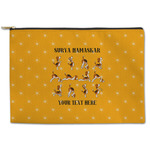 Yoga Dogs Sun Salutations Zipper Pouch (Personalized)