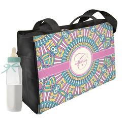 Bohemian Art Diaper Bag w/ Name and Initial