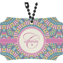 Bohemian Art Rear View Mirror Ornament (Personalized)