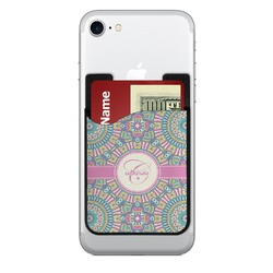 Bohemian Art 2-in-1 Cell Phone Credit Card Holder & Screen Cleaner (Personalized)