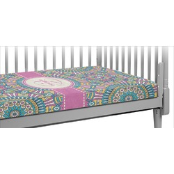 Bohemian Art Crib Fitted Sheet (Personalized)