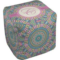 Bohemian Art Cube Pouf Ottoman (Personalized)