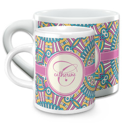 Bohemian Art Espresso Cups (Personalized)