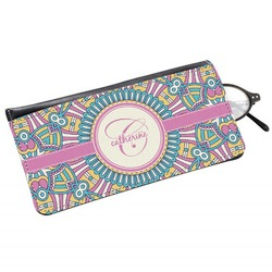 Bohemian Art Genuine Leather Eyeglass Case (Personalized)