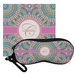 Bohemian Art Eyeglass Case & Cloth (Personalized)