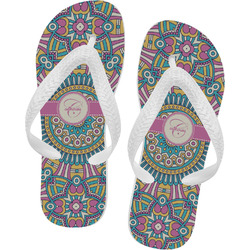 Bohemian Art Flip Flops - Large (Personalized)