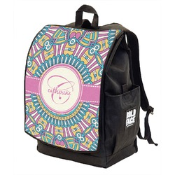 Bohemian Art Backpack w/ Front Flap  (Personalized)