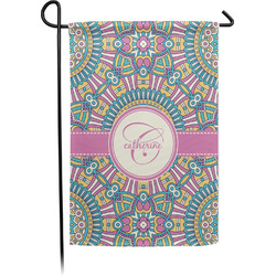 Bohemian Art Single Sided Garden Flag With Pole (Personalized)