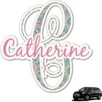 Bohemian Art Graphic Car Decal (Personalized)