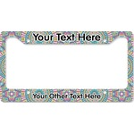 Bohemian Art License Plate Frame (Personalized)