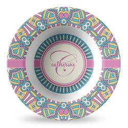 Bohemian Art Plastic Bowl - Microwave Safe - Composite Polymer (Personalized)