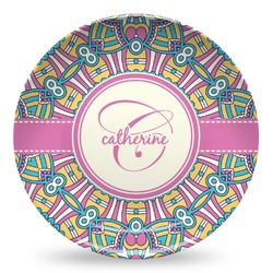 Bohemian Art Microwave Safe Plastic Plate - Composite Polymer (Personalized)