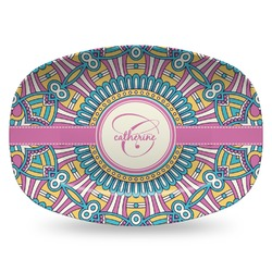 Bohemian Art Plastic Platter - Microwave & Oven Safe Composite Polymer (Personalized)