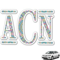 Bohemian Art Monogram Car Decal (Personalized)