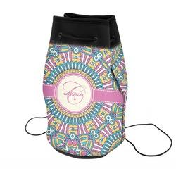 Bohemian Art Neoprene Drawstring Backpack (Personalized)