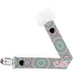 Bohemian Art Pacifier Clips (Personalized)