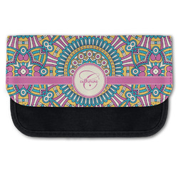 Bohemian Art Canvas Pencil Case w/ Name and Initial