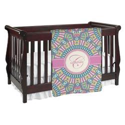 Bohemian Art Baby Blanket (Personalized)
