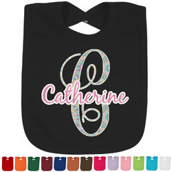 Bohemian Art Baby Bib - 14 Bib Colors (Personalized)