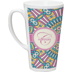 Bohemian Art Latte Mug (Personalized)
