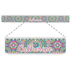 "Bohemian Art Plastic Ruler - 12"" (Personalized)"