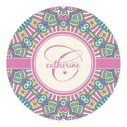 Bohemian Art Round Decal (Personalized)