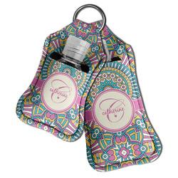 Bohemian Art Hand Sanitizer & Keychain Holder (Personalized)