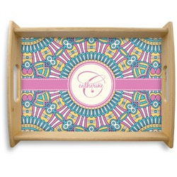 Bohemian Art Natural Wooden Tray - Large (Personalized)