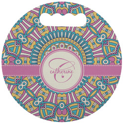 Bohemian Art Stadium Cushion (Round) (Personalized)