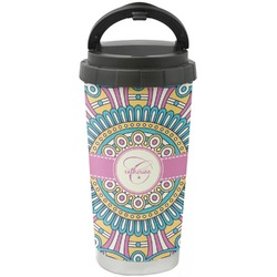 Bohemian Art Stainless Steel Travel Mug (Personalized)