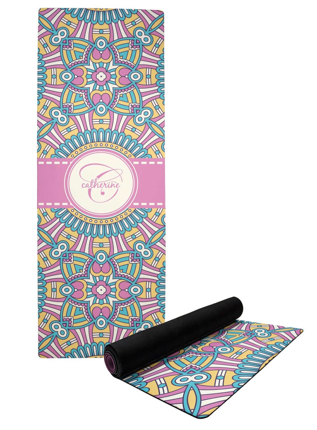 Bohemian Art Yoga Mat Personalized Youcustomizeit