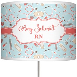 """Nurse 13"""" Drum Lamp Shade Polyester (Personalized)"""