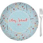 "Nurse Glass Appetizer / Dessert Plates 8"" - Single or Set (Personalized)"