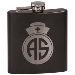 Nurse Black Flask Set (Personalized)