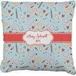 Nurse Faux-Linen Throw Pillow (Personalized)