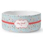 Nurse Ceramic Dog Bowl (Personalized)