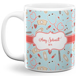 Nurse 11 Oz Coffee Mug - White (Personalized)