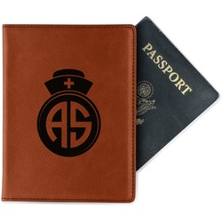 Nurse Leatherette Passport Holder (Personalized)