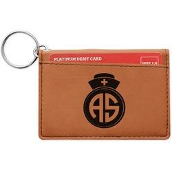 Nurse Leatherette Keychain ID Holder (Personalized)