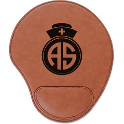 Nurse Leatherette Mouse Pad with Wrist Support (Personalized)